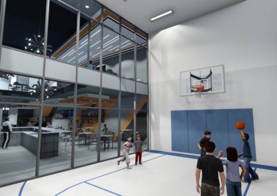 PIC 9 Youth Building Indoor Basketball Court